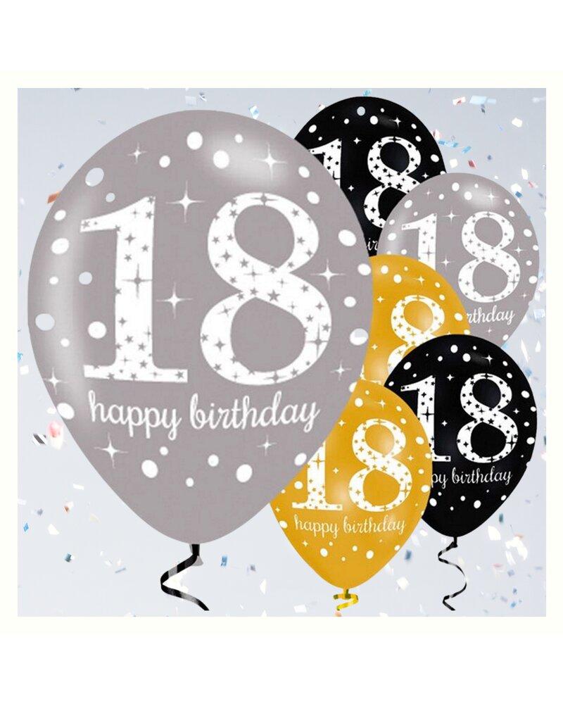 Dekorative Luftballon Geburtstags Deko Zum 18 Geburtstag Gold Schwa