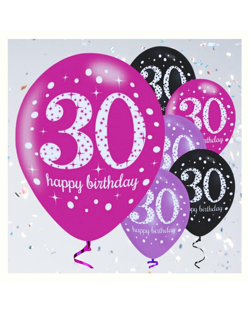 Dekorative luftballon geburtstags deko zum 30 geburtstag Deko 30 geburtstag pink