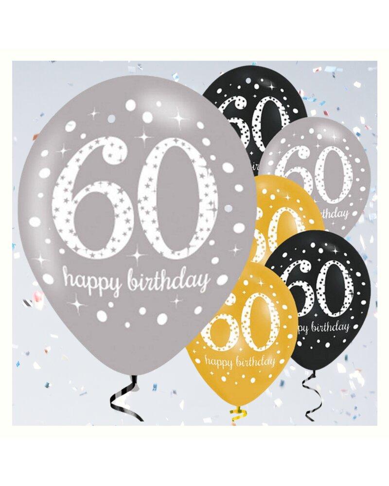 dekorative luftballon geburtstags deko zum 60 geburtstag. Black Bedroom Furniture Sets. Home Design Ideas