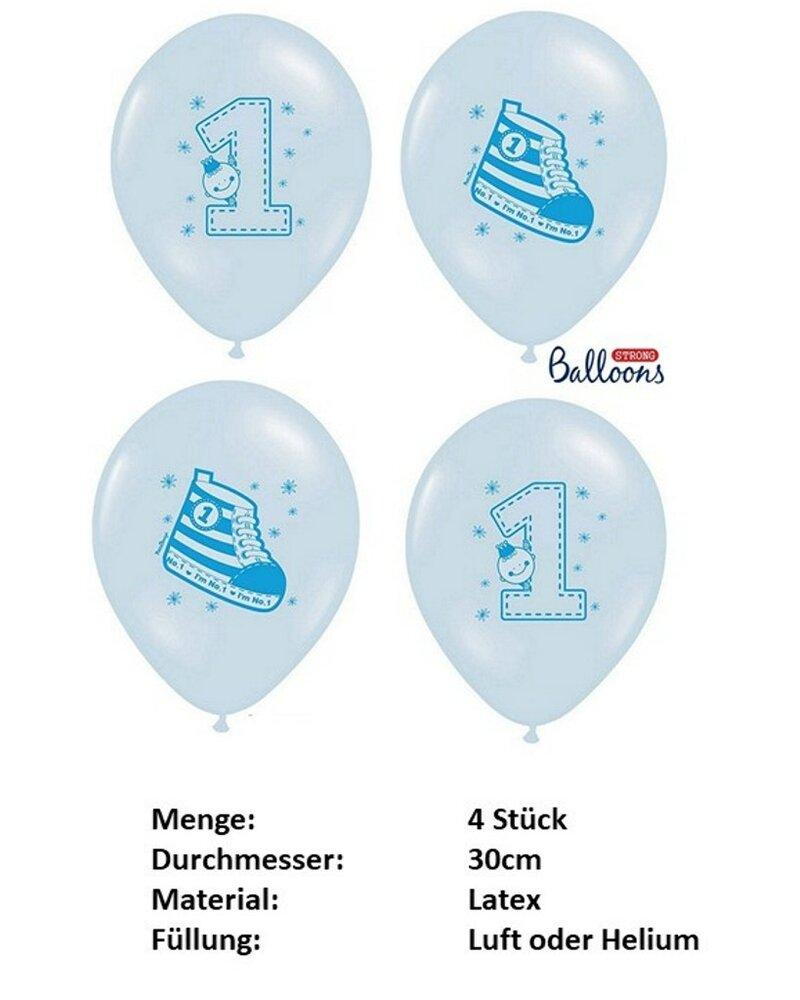 Dekoration zum 1 geburtstag junge blau wei gr n for Geburtstagsdeko junge