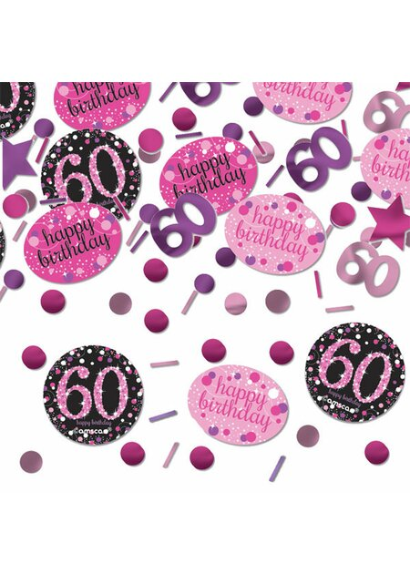 13 Teile Happy Birthday Swirl 60 in pink