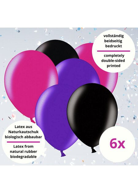12 Teile Happy Birthday Luftballons 18 in pink