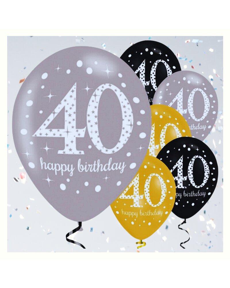 dekorative luftballon geburtstags deko zum 40 geburtstag gold schwa 4 75. Black Bedroom Furniture Sets. Home Design Ideas