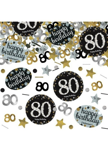 14 Teile Happy Birthday Girlande 80 in gold