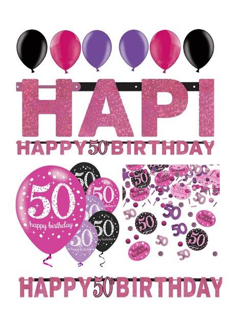 Birthday Ballons mit Zahl 50 8 St