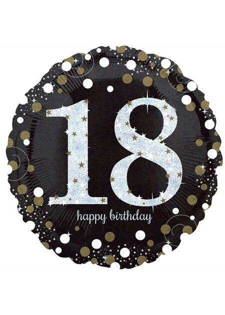 14 Teile Happy Birthday Wimpel 18 in gold