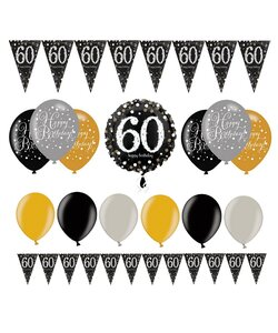 14 Teile Happy Birthday Wimpel 60 in gold