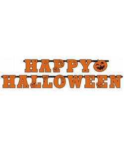 Girlande Happy Halloween orange