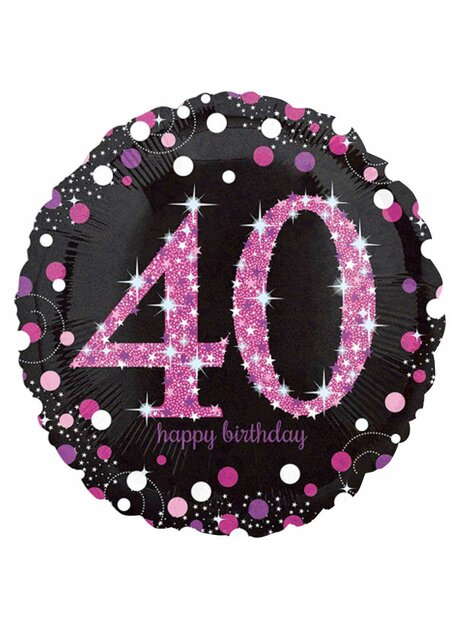 14 Teile Happy Birthday Wimpel 40 in pink