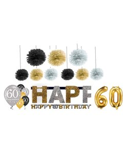 18 Teile Happy Birthday Girlande 60 in gold