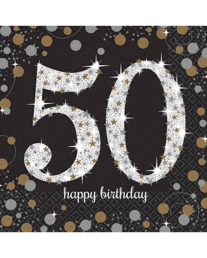 Festefeiern Tischdekoration Servietten 16 Teile Deko 50 Geburtstag
