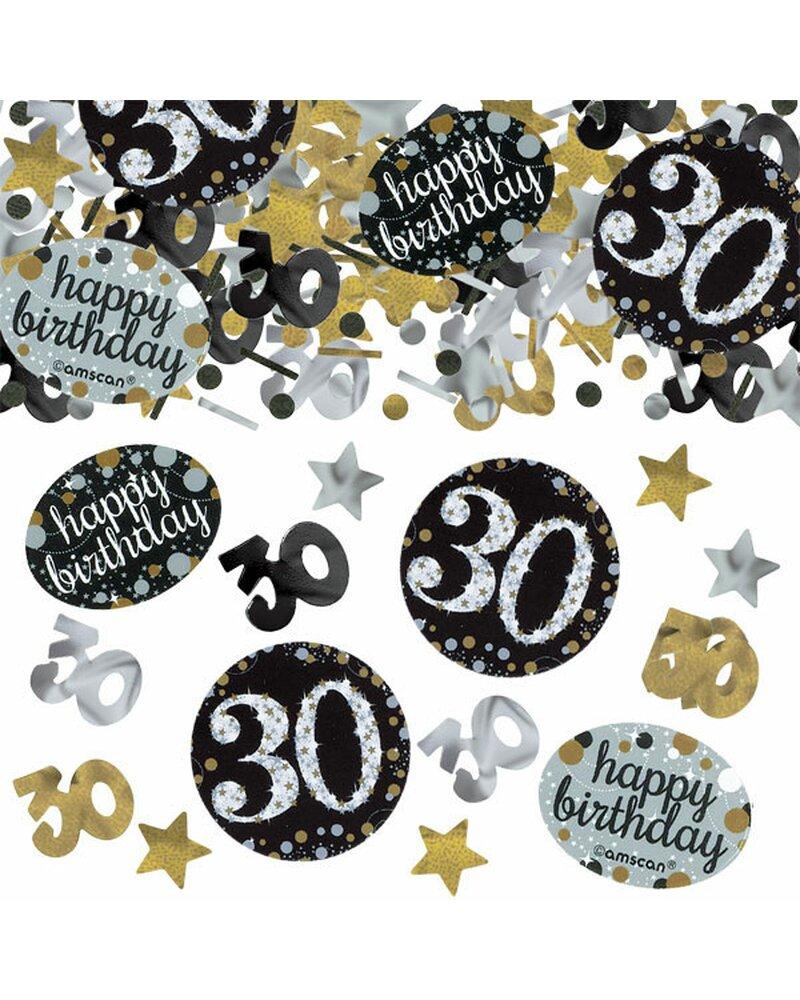 Festefeiern tischkonfetti zum 30 geburtstag gold schwarz for Goud zwart versiering