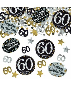 Konfetti Happy Birthday 60 in gold