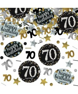 Konfetti Happy Birthday 70 in gold