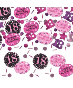 Konfetti Happy Birthday 18 in pink