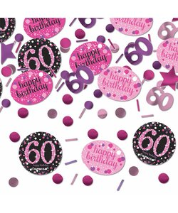 Konfetti Happy Birthday 60 in pink