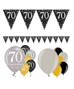 13 Teile Happy Birthday Wimpel 70 in gold