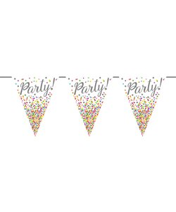 Wimpelkette It´s Party Time 6m bunt