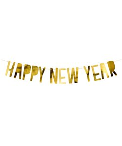 Girlande Happy New Year gold metallic
