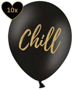 10x Luftballons in Schwarz - Chill