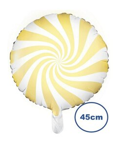Folienballon Candy light yellow - 45cm