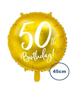 Folienballon 50th Birthday Gold 45cm