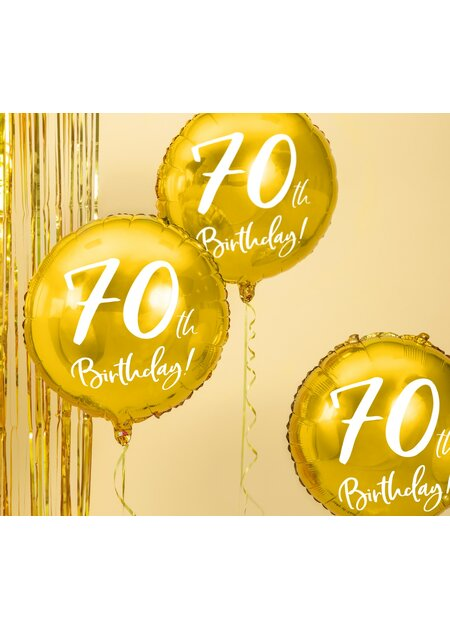 Folienballon 70th Birthday Gold 45cm