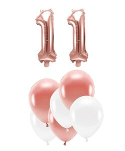Happy Birthday 11 Jahre in rose gold