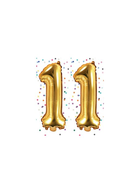Happy Birthday 11 Jahre in gold