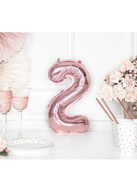 Luftballon Deko 23 Geburtstag Jubiläum Folie Zahl 23 rosegold metallic 20 Teile