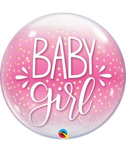 Bubble Ballon BABY GIRL PINK
