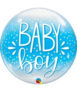 Bubble Ballon BABY BOY BLUE